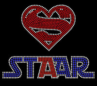 Super Staar (New) School Rhinestone Transfer