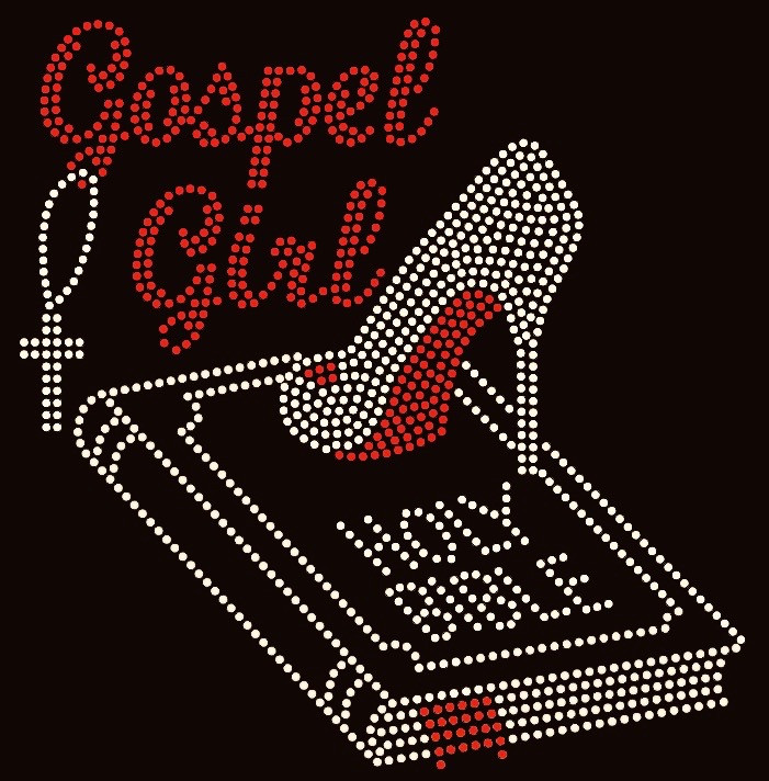 Gospel Girl Holy Bible Heels Stiletto Rhinestone Transfer