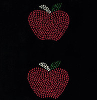 "(2 Qty) Apple 3"" - School Rhinestone Transfer"