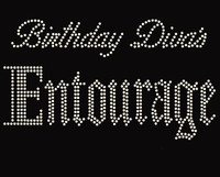 (text only) Birthday Diva's Entourage Rhinestone Transfer