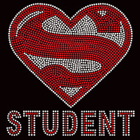 Super Student School Rhinestone transfer