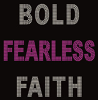 Bold Fearless Faith Rhinestone Transfer