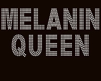 Melanin Queen custom Rhinestone Transfer