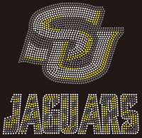 SU Jaguar (TEXT)  Rhinestone Transfer
