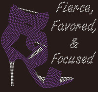 Fierce Favored & Focused Heel (Purple) Rhinestone Transfer