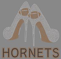 Hornets Heels Custom Rhinestone Transfer