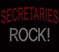 Secretaries Rock Custom Rhinestone Transfer