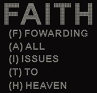 Faith Words Forwarding Religious Rhinestone Transfer