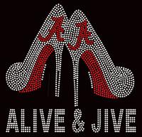 Alive & Jive Heels Custom Rhinestone Transfer