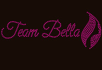 Team Bella (girl face in leaf) - Custom Rhinestone transfer