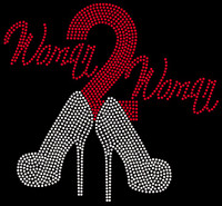 (Red) Woman 2 Woman Heels Woman to Woman Rhinestone transfer