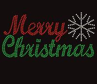 merry christmas rhinestone transfer iron on