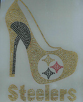 Steelers logo Heel Custom Rhinestone Transfer