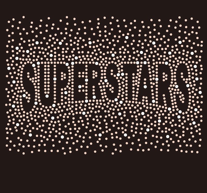 beeb48b537 SUPERSTARS (text) Splatter Custom Rhinestone Transfer - Texas Rhinestone