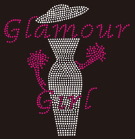 Glamour Girl with Hat Lady - Custom Rhinestone Transfer