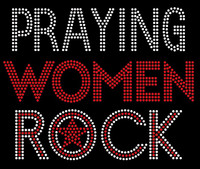 Praying Women Rock Custom Rhinestone Transfer
