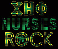 XHO Nurses Rock Custom Rhinestone Transfer