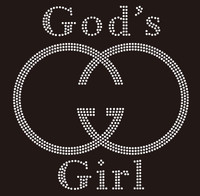 God's Girl GG Religious Custom Rhinestone Transfer