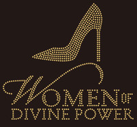 Women of Divine Power Heel (golden) - Custom Rhinestone Transfer