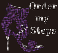 (New Purple) Order my Steps Heel custom order Rhinestone Transfer