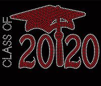 Class Of 2020 Red Cap School Rhinestone Transfer