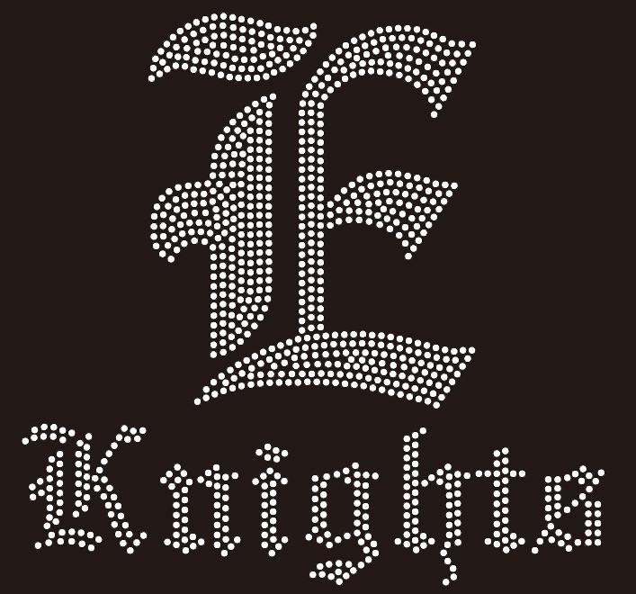 9d221c68c1 E Knights - Custom Rhinestone Transfer - Texas Rhinestone