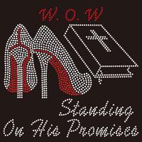 W.O.W - (Heel) wow custom order Rhinestone Transfer