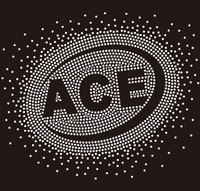 ACE (text) starburst - Custom Rhinestone Transfer