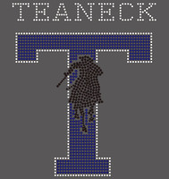 Teaneck man on a horse  - Custom Rhinestone Transfer