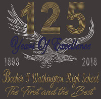 125 Years of Excellence with Eagle - Custom Rhinestone Transfer