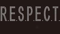 Respect (straight font) R.E.S.P.E.C.T. - Custom Rhinestone Transfer