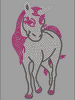 (Large) Unicorn Horse Rhinestone Transfer Iron On
