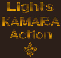 Lights Kamara Action - Custom Rhinestone Transfer
