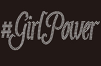 #GirlPower Custom Rhinestone Transfer