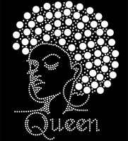 Afro Queen (13mm hair) Rhinestone Transfer