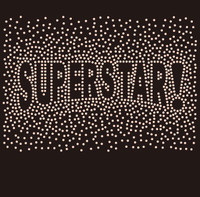 SUPERSTAR! (exclamation symbol) Splatter - Custom Rhinestone Transfer