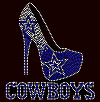 Cowboys Heel Custom Rhinestone Transfer