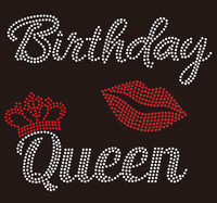 Birthday Queens Crown with Lip - custom Rhinestone Transfer