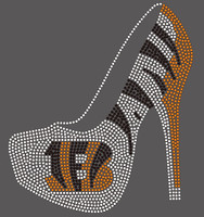 Bengal Heel Football custom Rhinestone Transfer