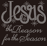 (NEW)Jesus the Reason for the Season Rhinestone Transfer