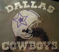Dallas Cowboys Helmet Football Rhinestone Transfer