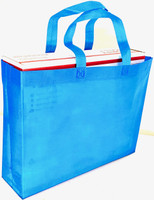 "Tote Bag 15""W x 11.5""H x 4""D (Blue)"