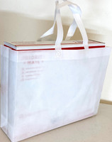 "Tote Bag (White) 15""W x 11.5""H x 4""Deep"