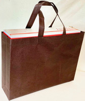 "Tote Bag 15""W x 11.5""H x 4""D (Brown)"