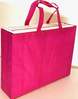 "Tote Bag (Hot Pink) 15""W x 11.5""H x 4""Deep"