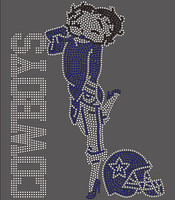 Cowboys Betty Boob - Rhinestone transfer