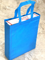 "Tote Bag 12""W x 15""H x 4""D (Blue)"