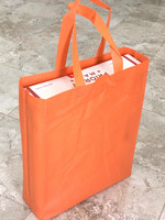 "Tote Bag (Orange) 12""W x 15""H x 4""Deep"