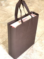 "Tote Bag 12""W x 15""H x 4""D (brown)"