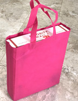 "Tote Bag (Hot Pink) 12""W x 15""H x 4""Deep"